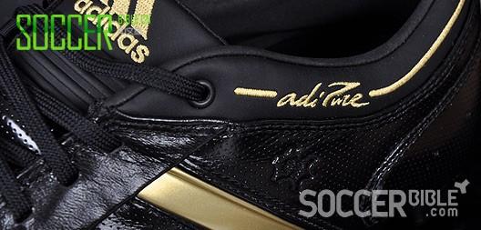 传统足球鞋 - adidas adiPure II 黑/金配色- 05/06/09