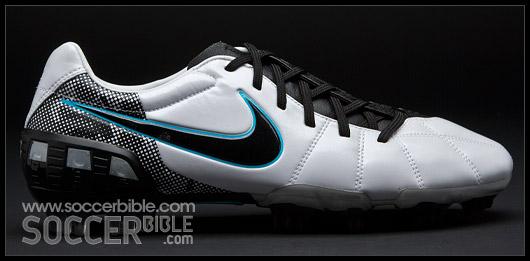1bc82356d4e Nike T90 Laser III Football Boots – White Black Chlorine Blue - Nike ...