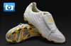 Pele Sports 1970 Football Boots - White/Yellow/Black