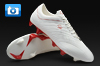Pele Sports Trinity 3E Football Boots - White/Red