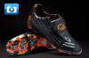 Pele Sports 1970 Football Boots - Black/Orange