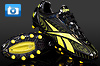 Speed Football Boots - Reebok Instante Black/Yellow/Red