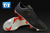 Pele Sports Trinity 3E K-Leather Football Boots - Black/Red/Gold