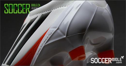adidas  F50 adizero女款皮版战靴――白/黑/红