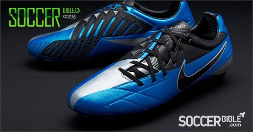 Nike T90 Laser IV KL足球鞋 蓝黑银