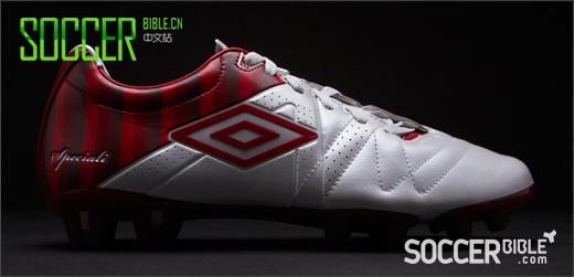 Umbro Speciali III Pro足球鞋 - 圣・乔治版本- 白/朱红/桃红