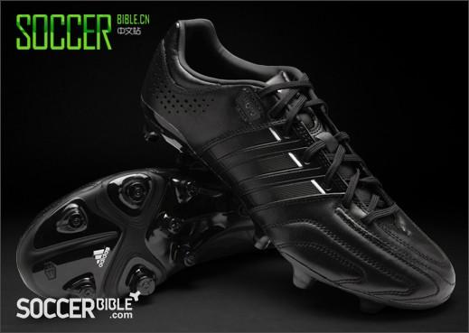 adidas adipure 11Pro 足球鞋- 黑/黑/白