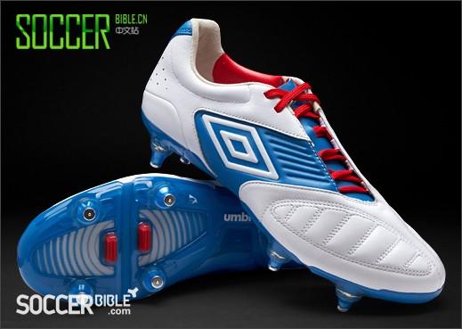 Umbro Geometra Pro Football Boots - 白/蓝/红