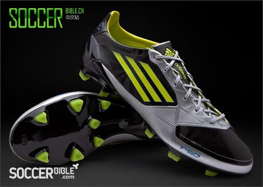 杀手本色低调来袭,阿迪达斯 f50 adizero miCoach 足球鞋 - 黑/银/柠檬黄