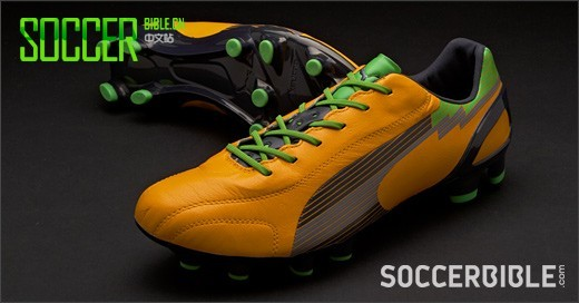 PUMA evoSPEED 1 K Football Boots - Orange/Charcoal/Green