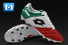 Lotto Stadio Potenza Italy II 100 Football Boots - White/Green/Red