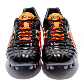 "Ascis Gel Lethal Tigreor 7 ""Black/Neon Orange"" : Football Boots : Soccer Bible"