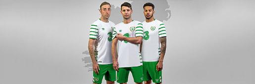 爱尔兰国家队2016欧洲杯客场球衣