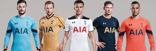 Tottenham 2016/17 Kits by Under Armour : Football Apparel : Soccer Bible