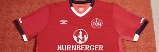 1. FC Nürnberg 16/17 Home Kit by Umbro : Football Apparel : Soccer Bible