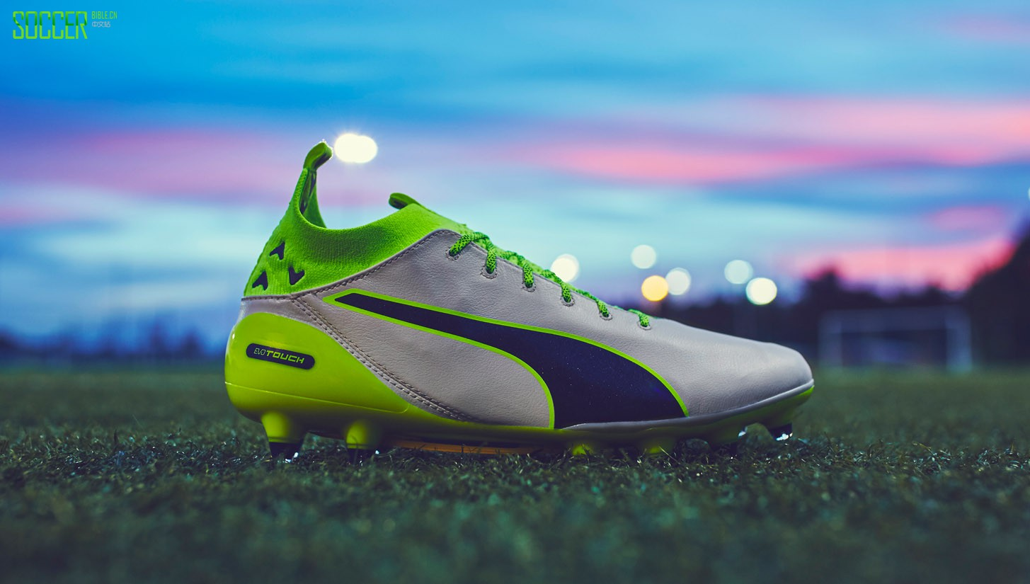 "PUMA evoTOUCH Pro ""Birch/Peacoat/Safety Yellow"" : Football Boots : Soccer Bible"
