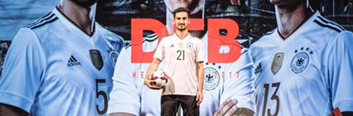 阿迪达斯发布德国国家队2017年俄罗斯联合会杯球衣