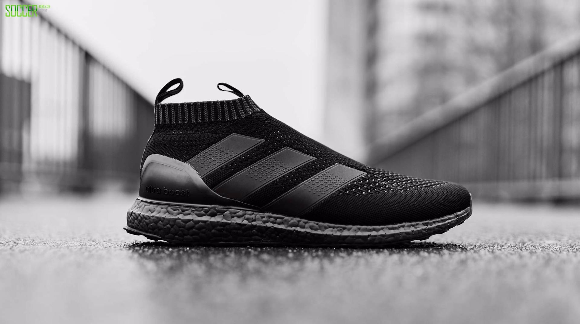"adidas ACE 16+ Purecontrol UltraBOOST ""Triple Black"" : Footwear : Soccer Bible"