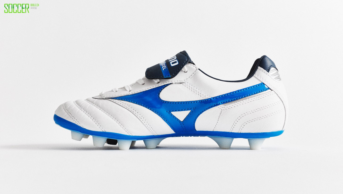 "Mizuno Morelia II MD ""White/Directoire Blue"" : Football Boots : Soccer Bible"
