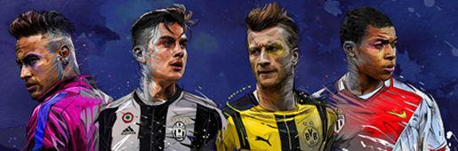 巴黎插画师笔下的欧冠四分之一决赛球星