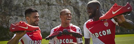 耐克为摩纳哥球员推出定制版足球鞋