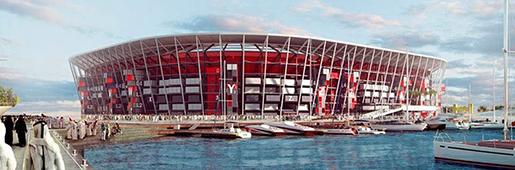 集装箱造世界杯球场 土豪国这次大玩环保概念