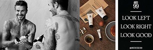 贝克汉姆联合欧莱雅推出首个男士美容品牌House 99