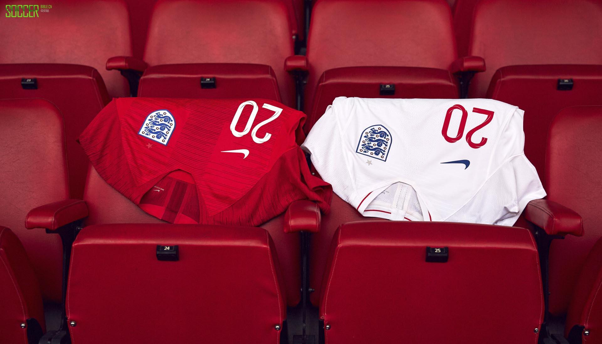 耐克发布英格兰2018世界杯客场球衣