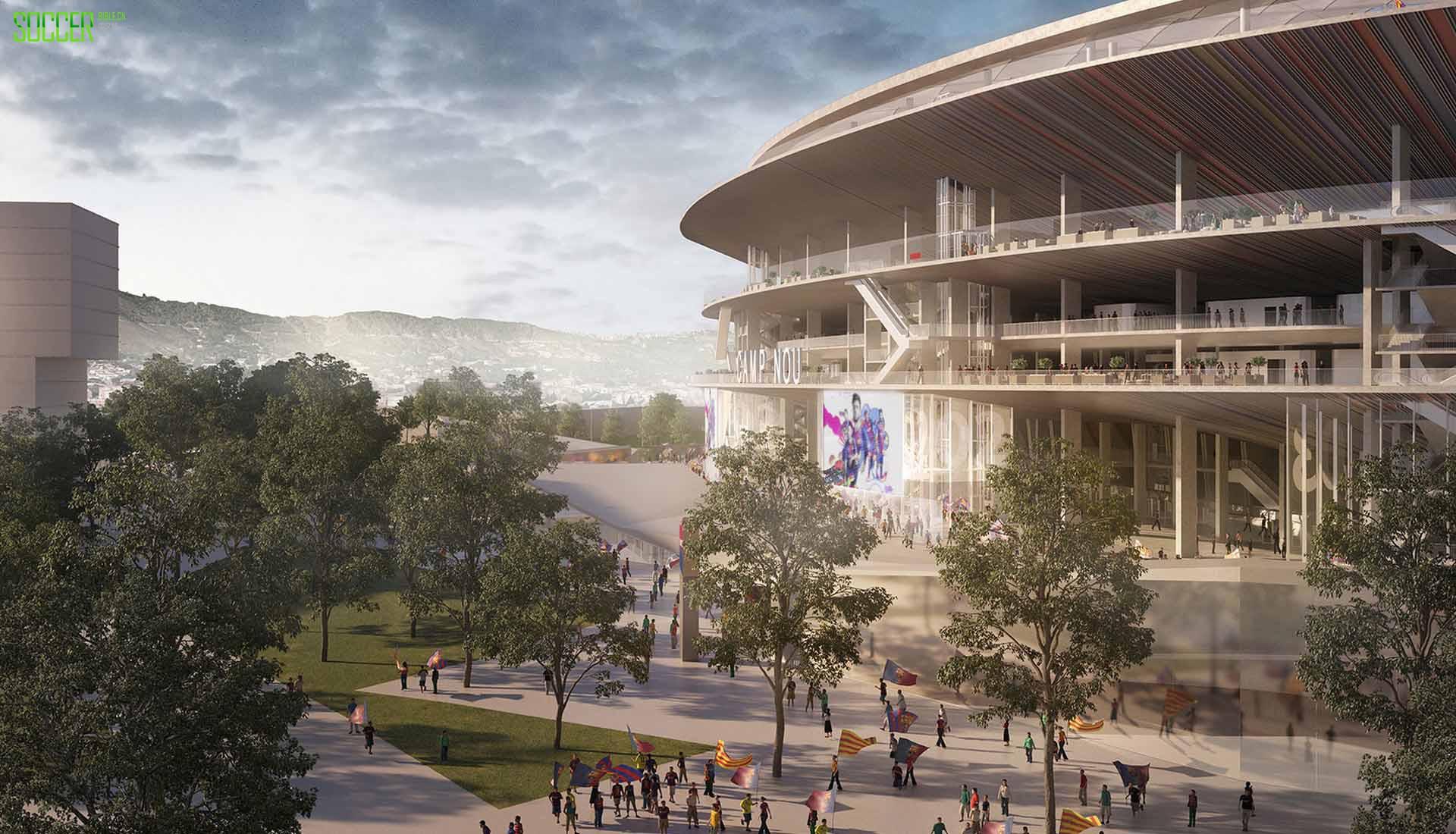 巴塞罗那公布诺坎普球场扩建照片