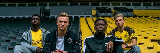 PUMA与德国多特蒙德足球俱乐部携手发布球队2018/19赛季全新主场球衣,新球衣已经在多特蒙德主场与美因茨的德甲联赛中正式亮相。