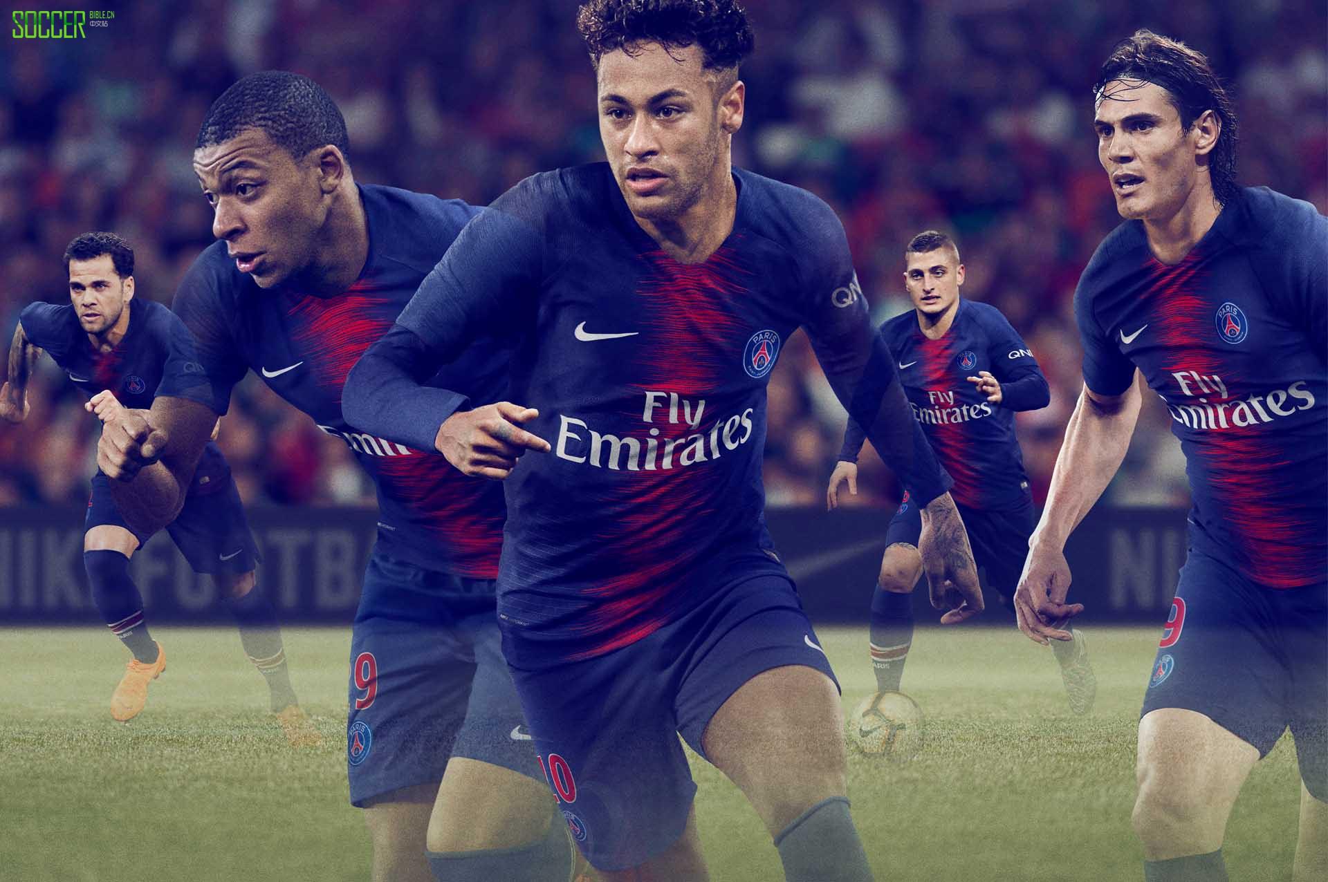 巴黎圣日耳曼2018-19赛季主场球衣