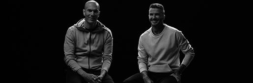 欧冠决赛前,贝克汉姆和齐达内交谈