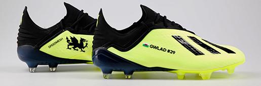 破纪录的战靴阿迪达斯定制足球鞋铭记贝尔国家队进球纪录