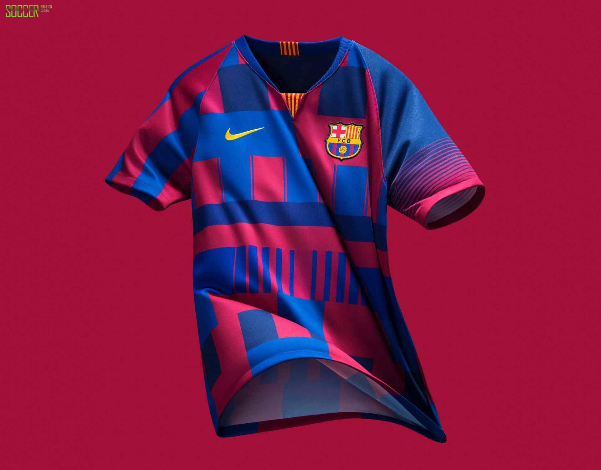 耐克发售限量版巴塞罗那20年球衣图片