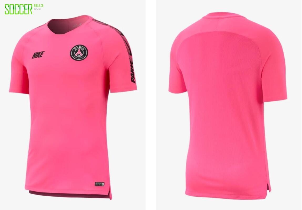 耐克发布巴黎圣日耳曼2019年粉色训练系列