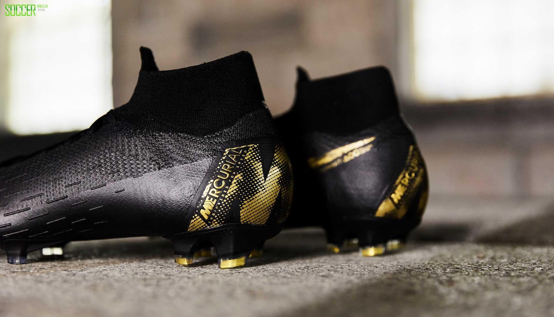 """霸气黑金套装亮相 耐克推出""""Black Lux""""系列足球鞋"""