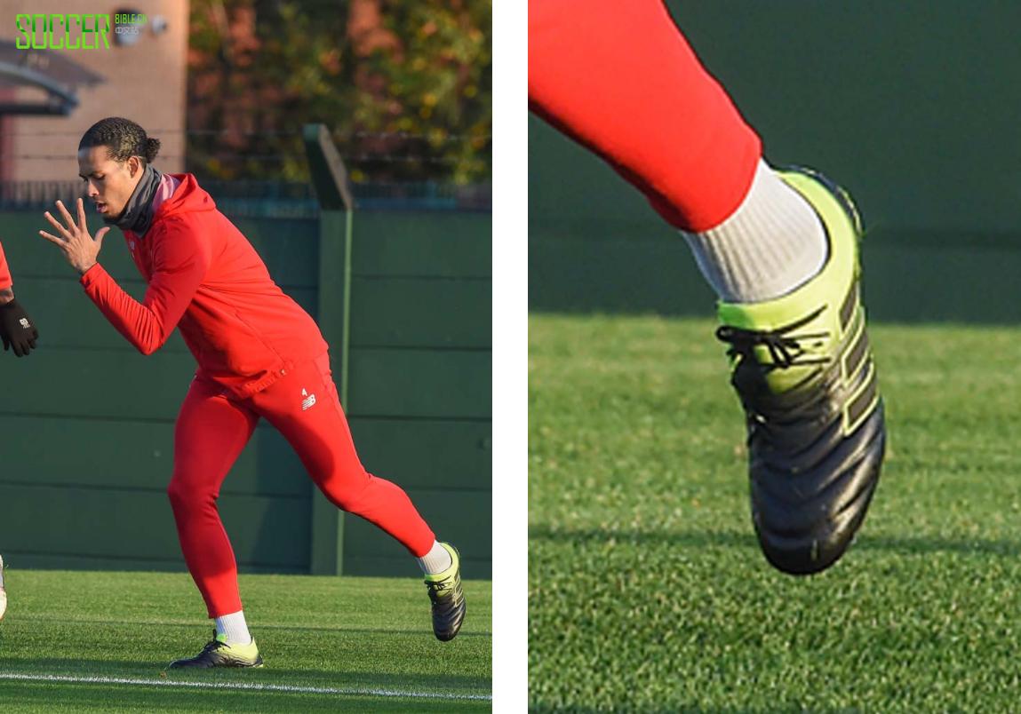 范戴克悄悄上脚全新配色的Adidas COPA 19.1