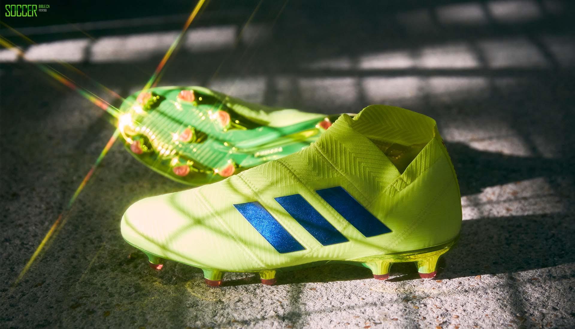 """阿迪达斯""""敢秀套装""""Nemeziz 18+足球鞋"""