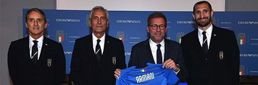 男模足球队来了 意大利足协宣布与阿玛尼达成赞助协议