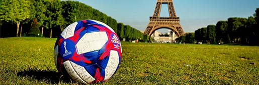 阿迪达斯正式发布2019法国女足世界杯淘汰赛比赛用球