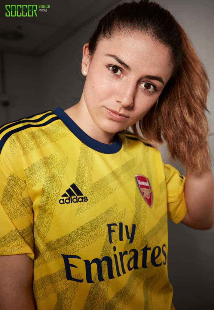 阿迪达斯推出阿森纳2019/20赛季客场球衣