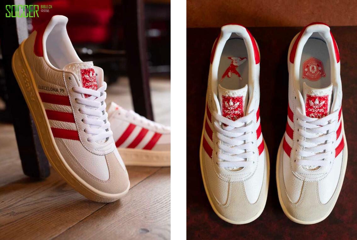 阿迪达斯三叶草和曼联携手推出Celebratedy 1999运动鞋