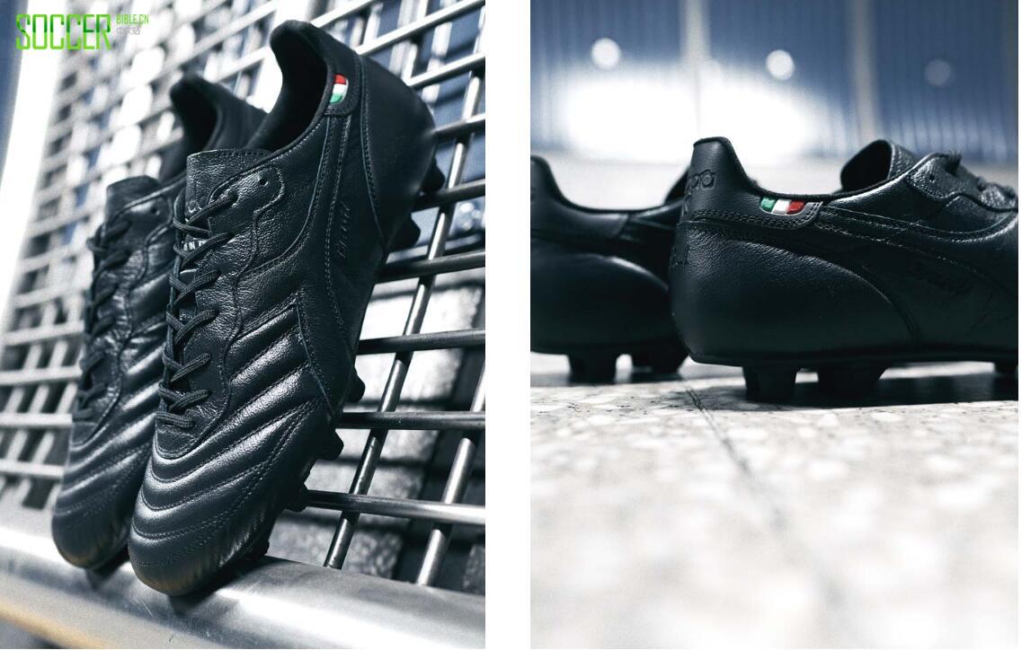 Diadora推出全黑配色意产Brasil K-Leather Pro