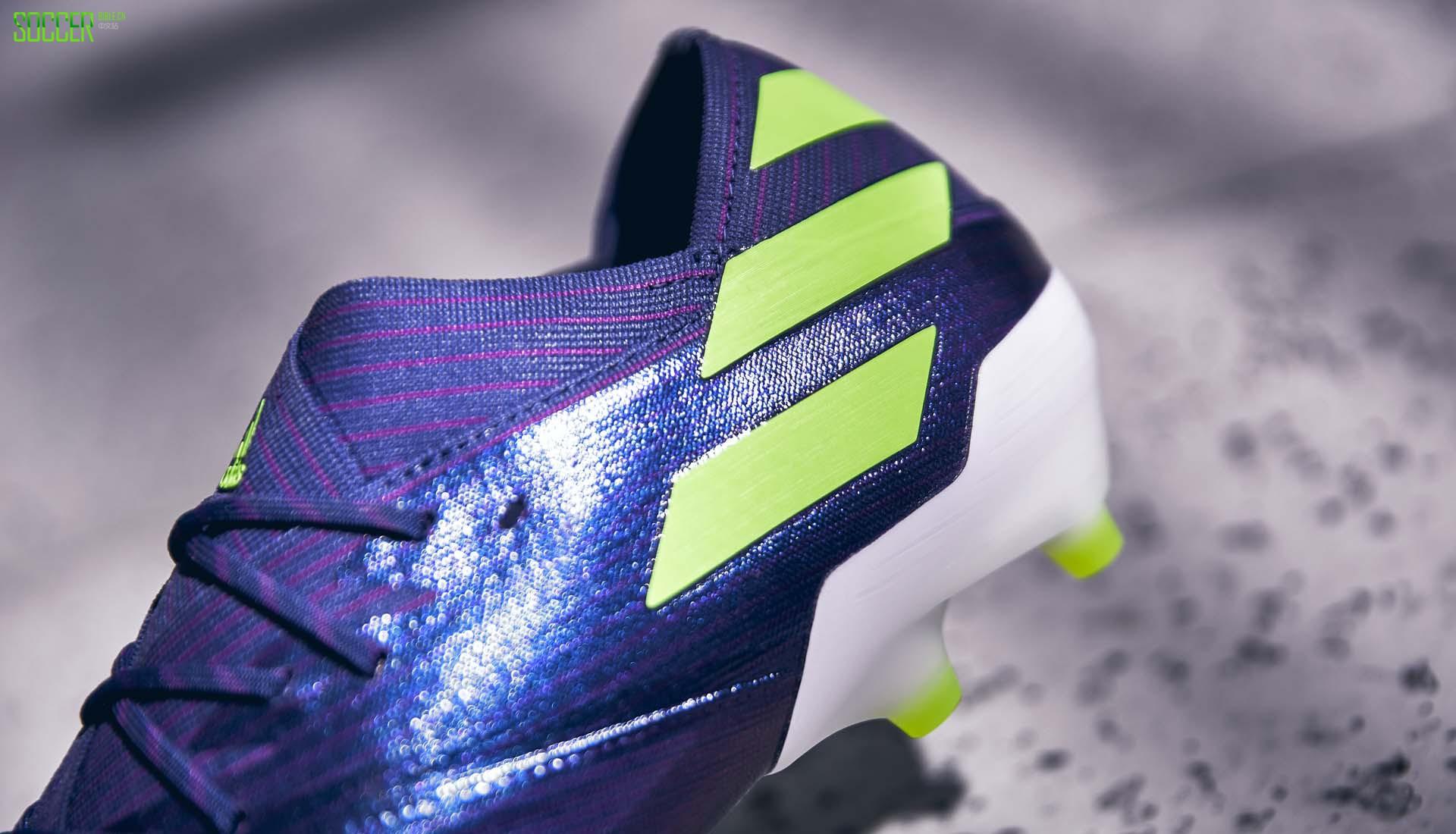 阿迪达斯推出Nemeziz Messi 19.1靛蓝/紫/绿配色