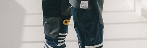 Art Of Football用运动外套打造拼接裤子